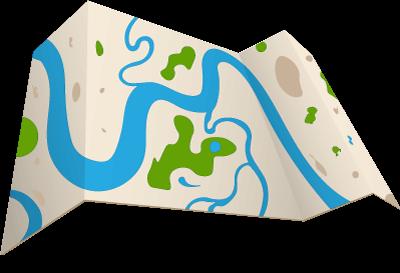 Graphisme représentant une carte des cours d'eau