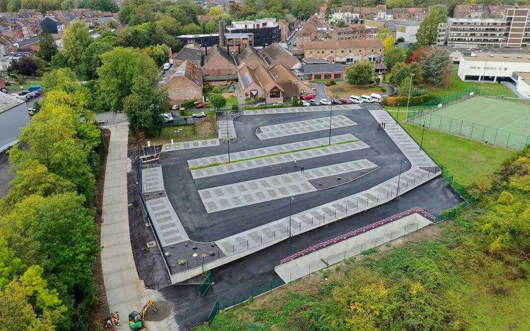 Aménagement du nouveau parking de la HEPH Condorcet à Tournai !