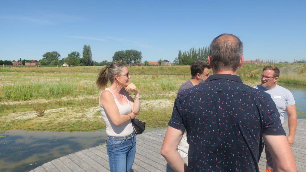 Photo de collègues sur la ZIT de Willemeau