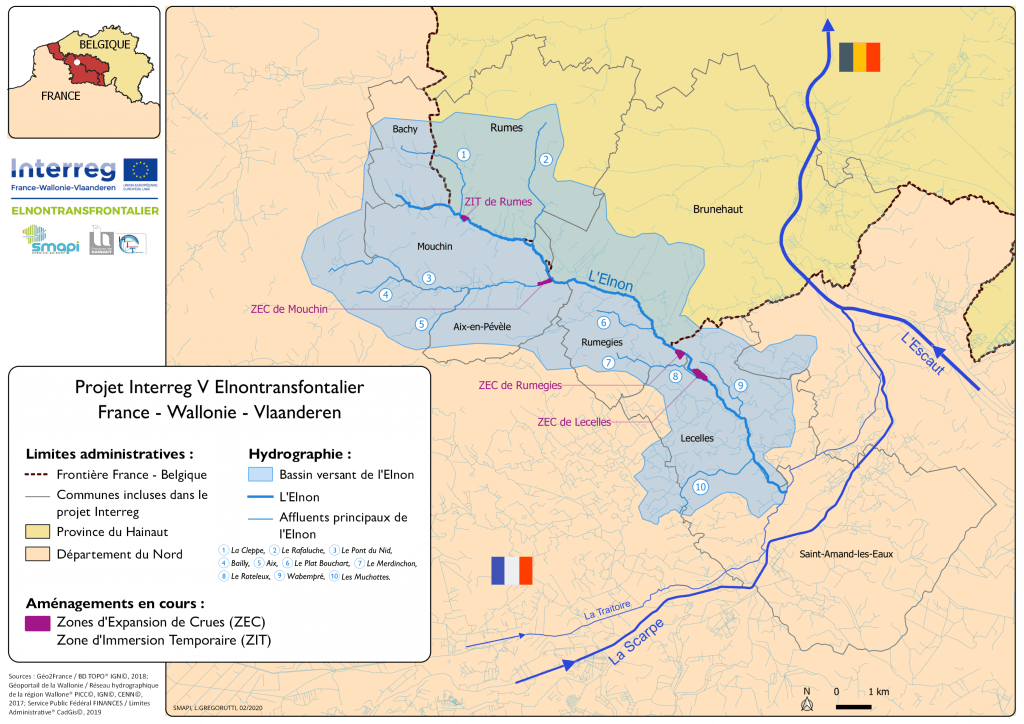 Carte de situation du projet Elnontransfrontalier