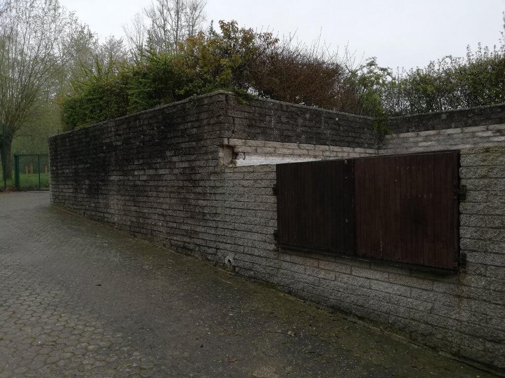Mur de soutenement avant au Lac de Godarville