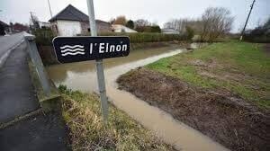 Photo inondations à Rumes par la sortie du lit de la rivière l'Elnon